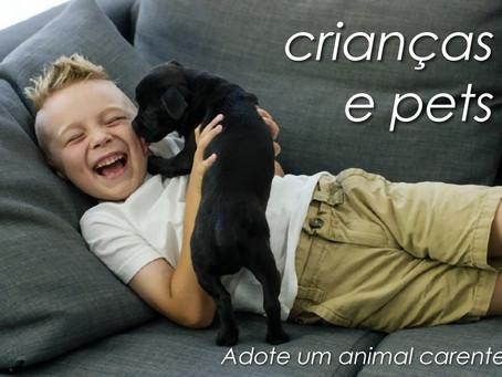 Entenda a importância da convivência entre crianças e pets