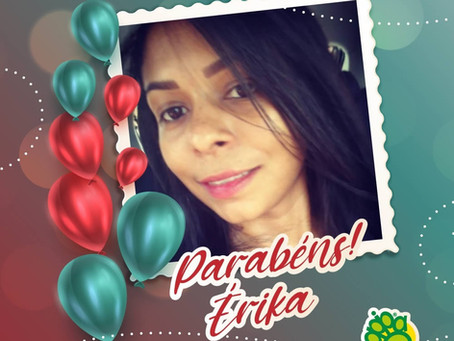 APIPA parabeniza Érika por seu aniversário