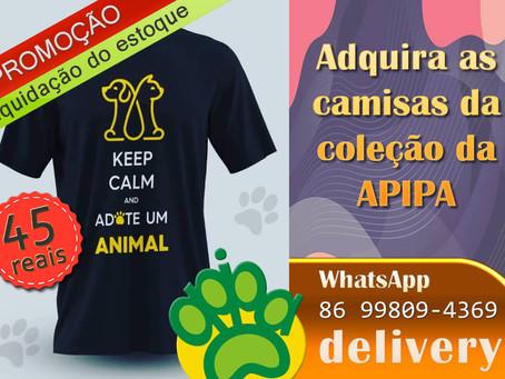 Adquira camisas da coleção da APIPA e ajude animais carentes