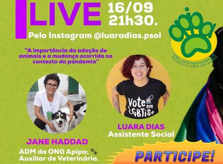Nesta quarta (16) no Instagram: live com Jane Haddad e Luara Dias às 21h30