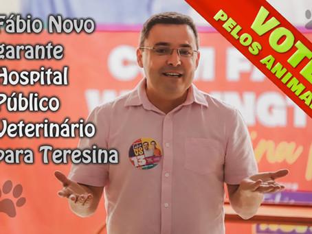 Vote pelos animais: Fábio Novo garante Hospital Público Veterinário para Teresina