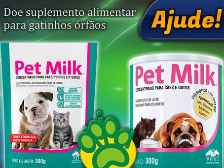 Ajude! Doe suplemento alimentar para gatinhos órfãos