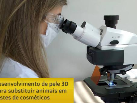 Startup de SP desenvolve pele 3D para substituir animais em testes de cosméticos
