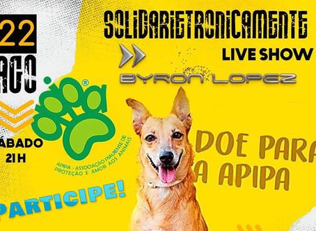Sábado às 21h: Live Show Solidária em prol da APIPA com DJ Byron Lopez