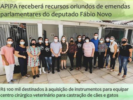 Deputado Fábio Novo vai destinar emendas para centro cirúrgico da APIPA