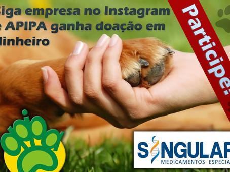 Participe: siga empresa no Instagram e APIPA ganha doação