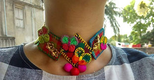 Hand Stiched Fabric Jewellery