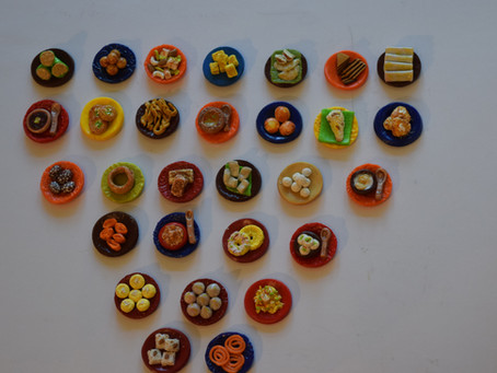 29 Sweets of 29 Indian States -  BUT YOU CAN'T EAT THESE!!! These are Clay MINIATURE