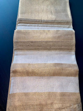 Linen tissue silk saree