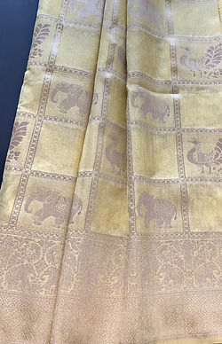 Fancy banaras print saree