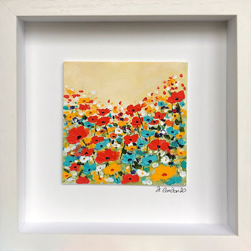 Wild and Free,  28.5 x 28.5cms Framed