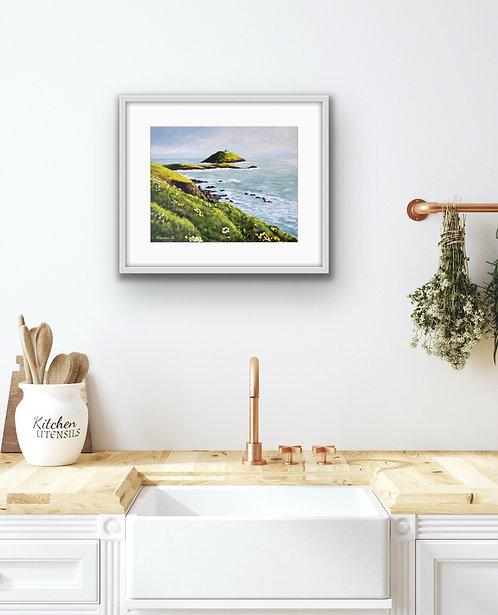 Ballycotton Island View 2021 - limited edition print