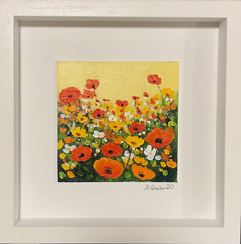 Sweet Blooms,  28.5 x 28.5cms Framed