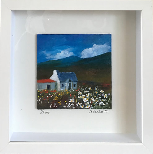 Home, 28.5 x 28.5 cms Framed