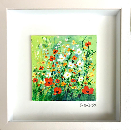Floral Dawn, 28.5 x 28.5cms Framed