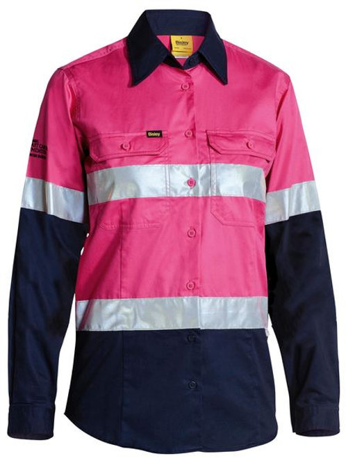 Bisley Two Tone Hi Vis Cool Light Weight Shirt