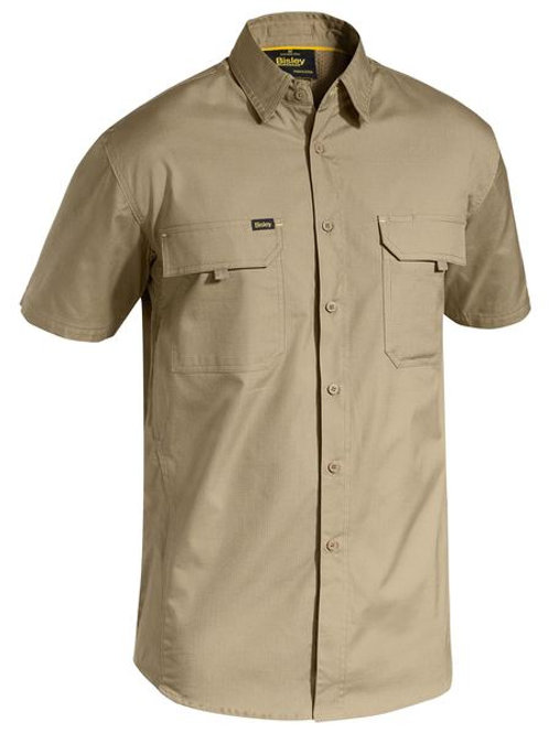 Bisley Mens X Airflow Ripstop Short Sleeve Shirt