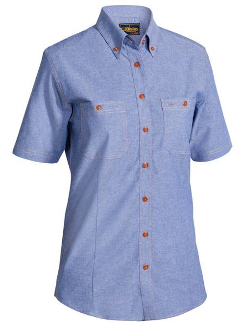 Bisley Ladies Chambray Short Sleeve Shirt