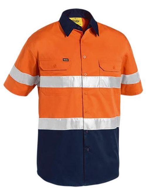 Bisley Two Toned Hi Vis Cool Lightweight Shirt