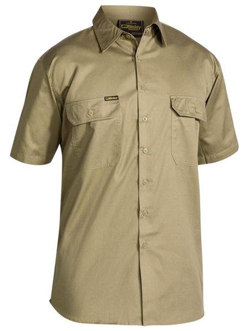 Bisley Cool Lightweight Drill Short Sleeve Shirt
