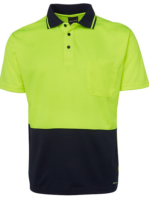 JBs Adults Hi Vis Non Cuff Traditional Polo