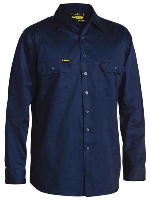 Bisley Cool Lightweight Drill Long Sleeve Shirt