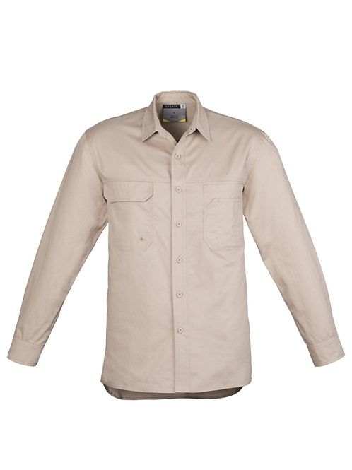 Mens Lightweight Tradie Shirt Long Sleeve
