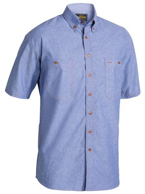 Bisley Chambray Shirt Short Sleeve