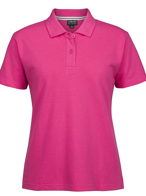 JBs Colours of Cotton Ladies Pique Polo