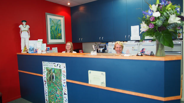 Our friendly reception staff