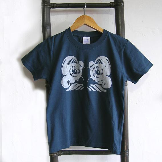ダルマ 子供Tシャツ slate blue 130
