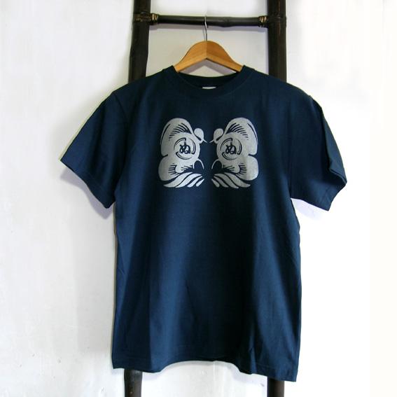 ダルマ武藏Tシャツ mens(s)スレートブルー