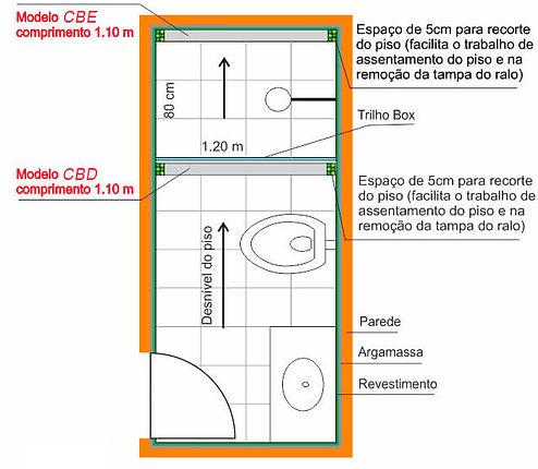 Ralo Linear Sifonado - Instalação fora do box do banheiro