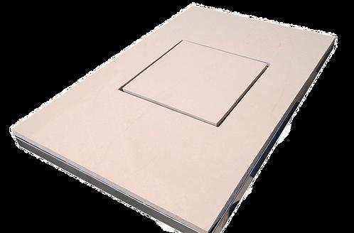 Ralo Quadrado Oculto 18x18 cm Acoplado a Caixa Sifonada 150 mm