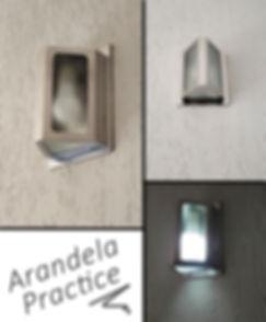 Arandela para Iluminação Externa de muros e paredes