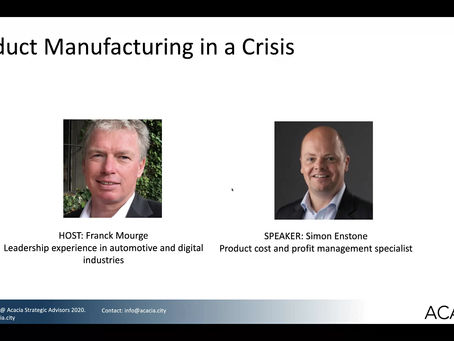 Webinar - Product Manufacturing in a Crisis