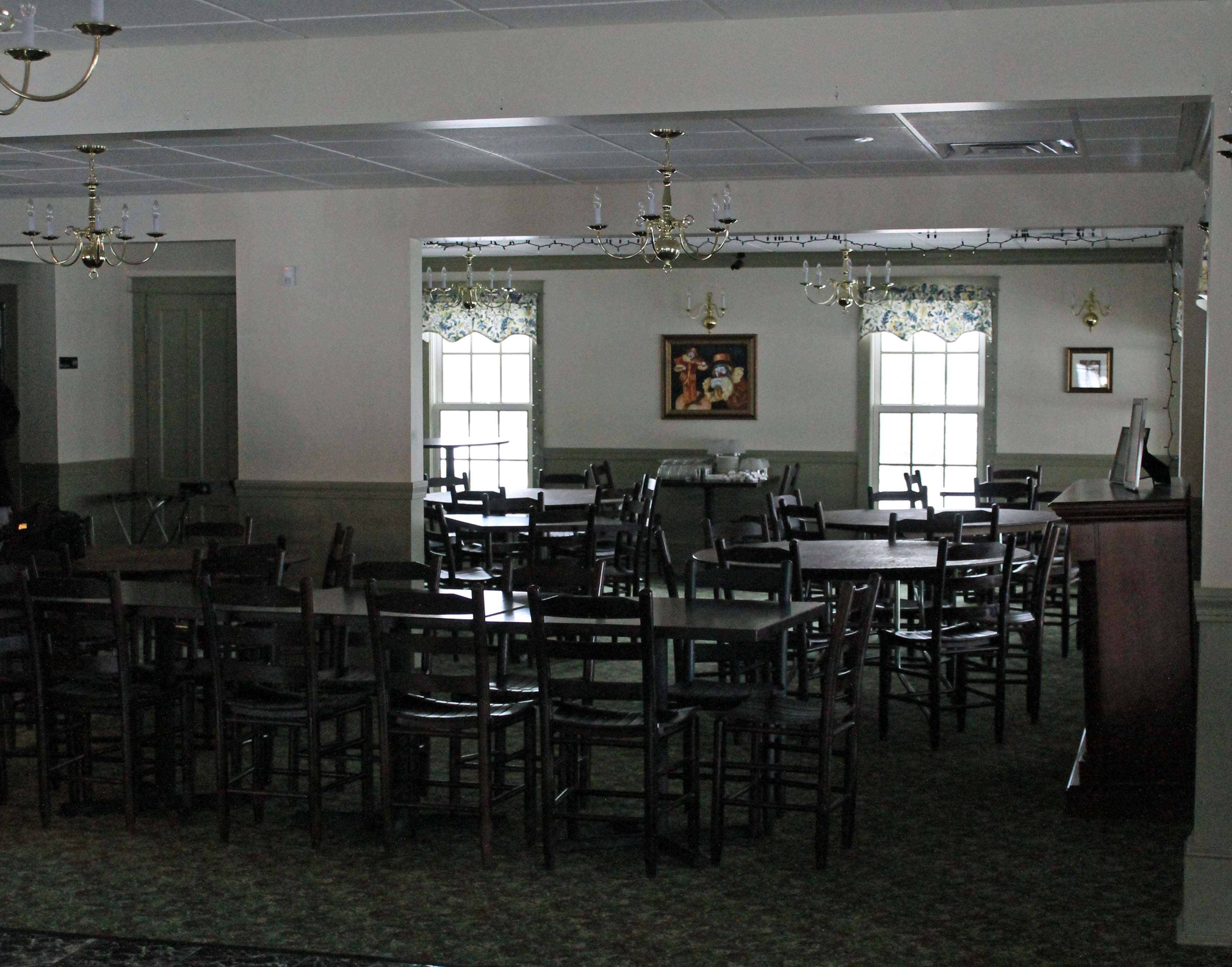 Upstairs Banquet dining area