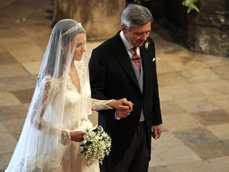 Walking your daughter down the aisle - that magic moment.