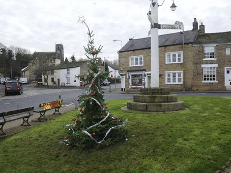 Terrible Christmas trees. Derby - this year's winner.
