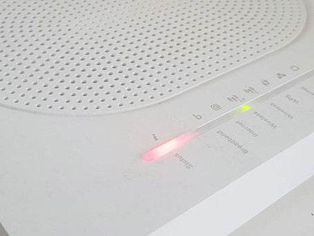 When our router shows red.