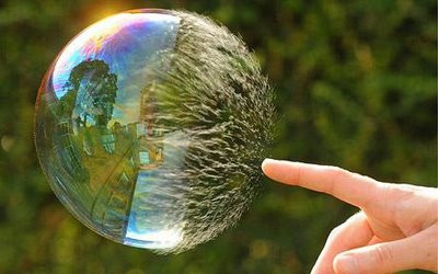 When stuck in our bubble.