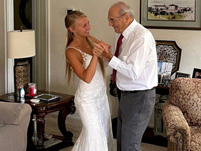 Bride flies 800 miles to share 'first dance' with her 94-year-old grandfather