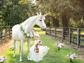 3-year-old battling brain cancer gets a magical dream visit with a unicorn