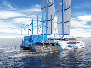 Manta: The first-of-a-kind processing ship designed to collect, treat and repurpose floating debris