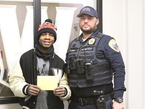 KPD Officer helps Western student with vehicle registration and insurance costs