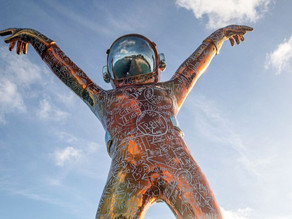 A Giant Spaceman Just Landed in the Caribbean