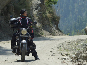 Female biker's solo odyssey to show it's safe for single women to travel and explore India
