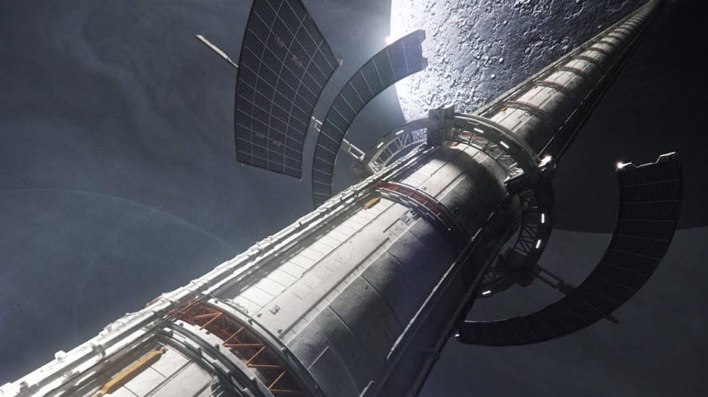 A space elevator to the moon is possible with today's technology