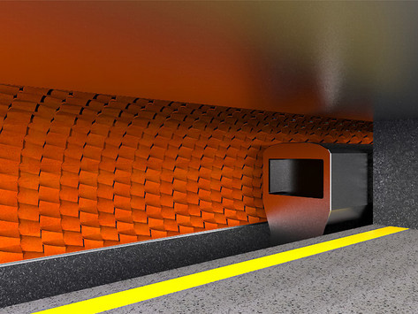 Water-cooled terracotta tiles provide a natural way to cool subway stations during the summer