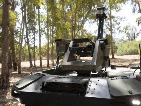 Israeli firm unveils armed robot to protect the peace on volatile borders